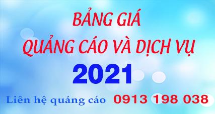 Bảng giá quảng cáo và dịch vụ 2021